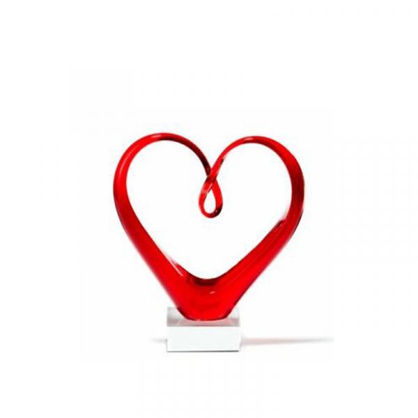 Sculptuur hart rood 23 cm