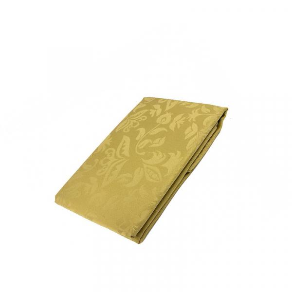 Tafelkleed goudkleurig 140 x 300 cm