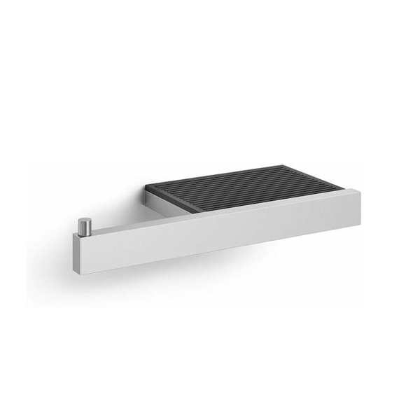 Toiletrolhouder met planchet RVS