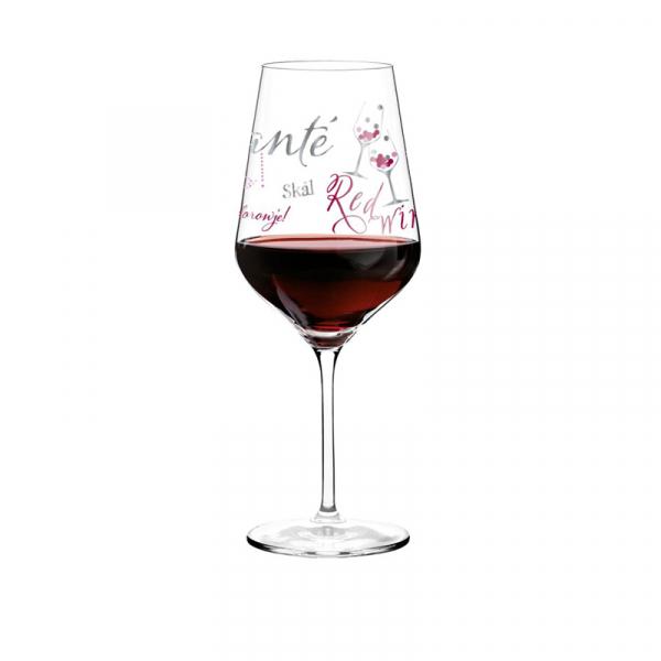 Rode wijn glas 011