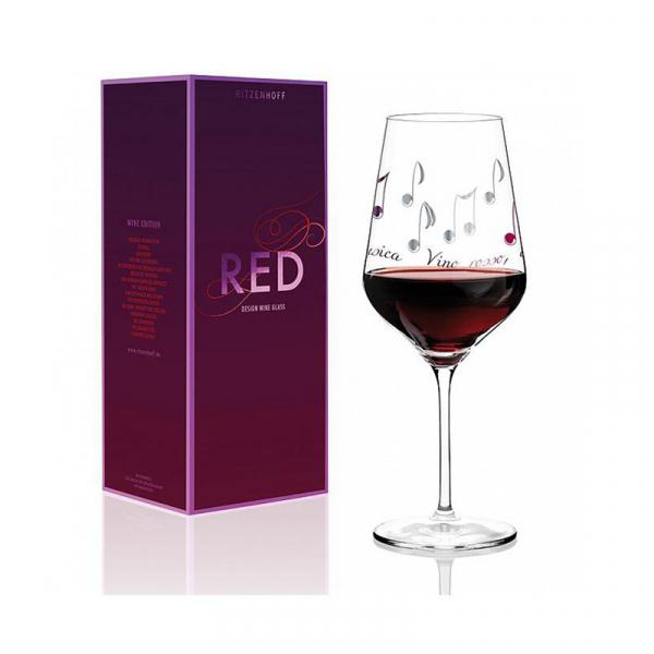 Rode wijnglas 024