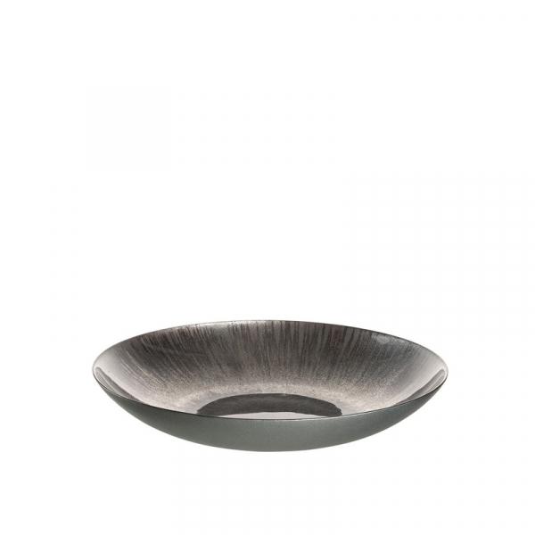 Schaal 40 cm grijs/zilver