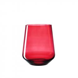 Windlicht Glas 24,4 cm rood