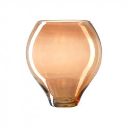 Windlicht Glas 27 cm amber