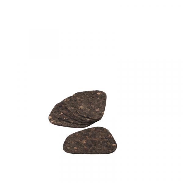 Onderzetters 13 x 9,5 cm kurk, per 6