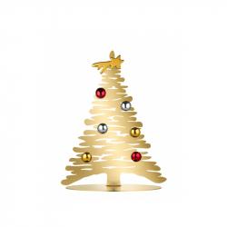 Kerstboom rvs goud 30 cm incl. magneten