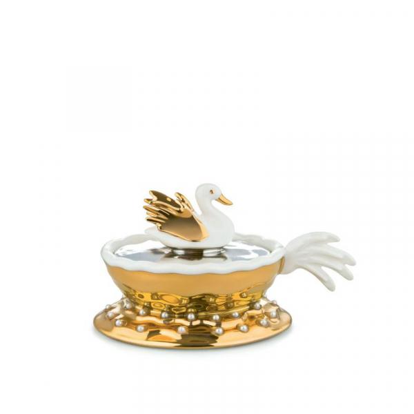 Kerstornament Narciso porelein 12 cm