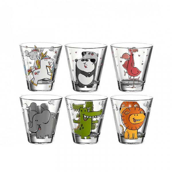 Kinderwaterglas met print 0,22 l, per 6