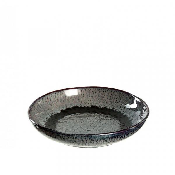 Diep bord grijs 21 cm