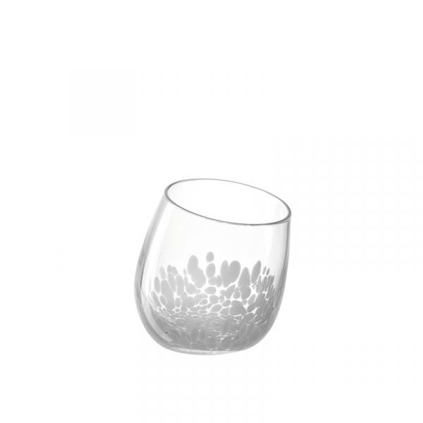 Windlicht glas wit  17 cm