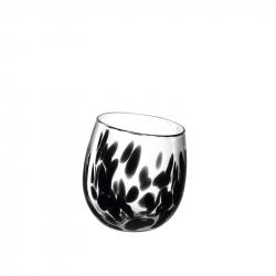 Windlicht glas zwart 17 cm
