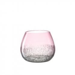 Vaas glas roze 15 cm