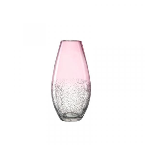 Vaas glas roze 31 cm