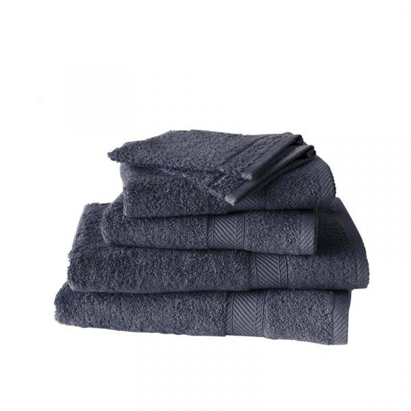 Handdoekenset met washanden Ebony, 6 delig