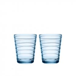 Waterglas 0,22 l aqua, per 2