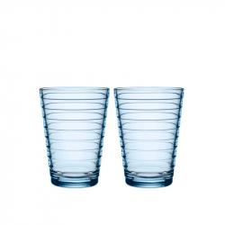 Waterglas 0,33 l aqua, per 2