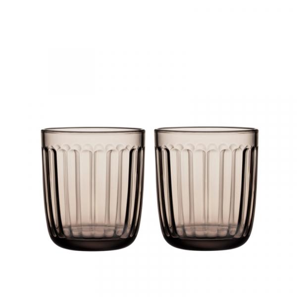 Waterglas 0,26 l linnen, per 2