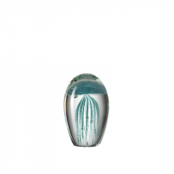 Jellyfish turquoise in glas 11 cm