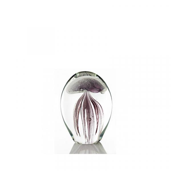Jellyfish lila in glas 11 cm