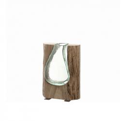 Vaas met hout 20 cm