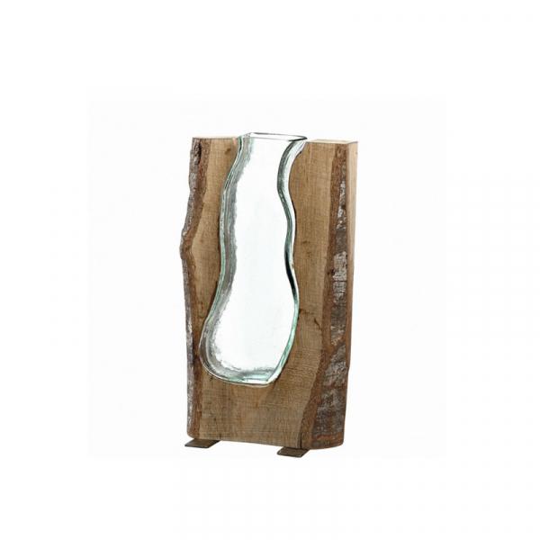 Vaas met hout 36 cm