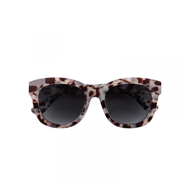 Zonneleesbril Grijs Tortoise +2.5