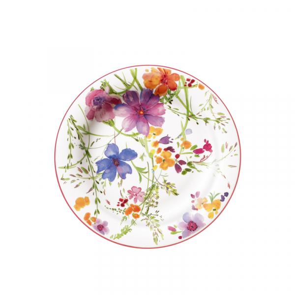 Ontbijtbord porselein met bloemen 21 cm