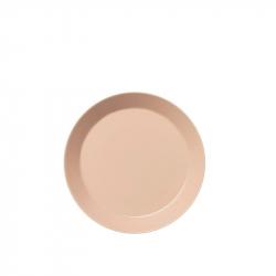Plat bord poeder roze 17 cm
