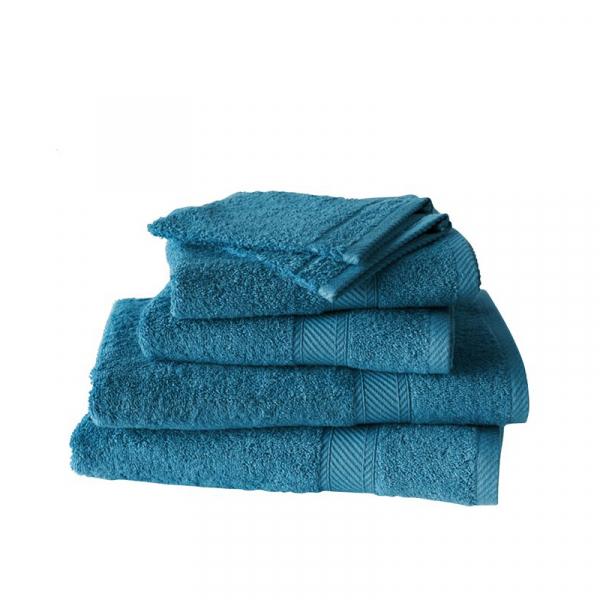 Handdoekenset met washanden Lake Green, 6 delig