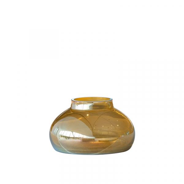Vaas 14 x 25 cm goudkleurig
