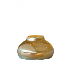 Vaas 18 x 32 cm goudkleurig