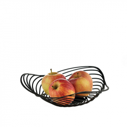 Fruitschaal 26 cm zwart