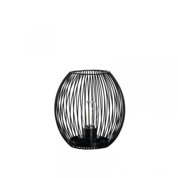 Lantaarn met led lamp 18 cm zwart