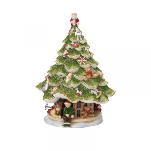 Muziekdoos Kerstboom met kinderen 30 cm