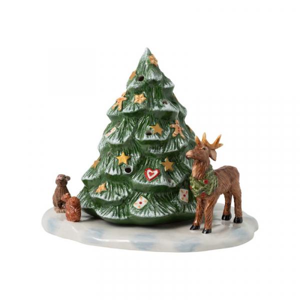 Waxinelichthouder Kerstboom 23 cm