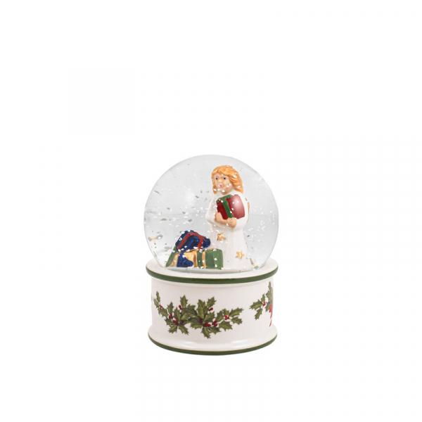 Sneeuwbol Kerstkind 9 cm
