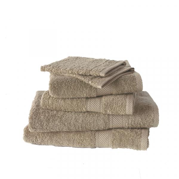 Handdoekenset met washanden Humus, 6 delig