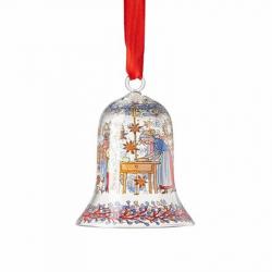 Kerstklokje bakkerij glas 7 cm