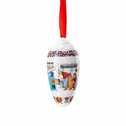 Kerstpegel bakkerij porselein 7 cm