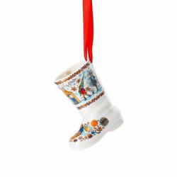 Kerstlaars bakkerij porselein 7 cm