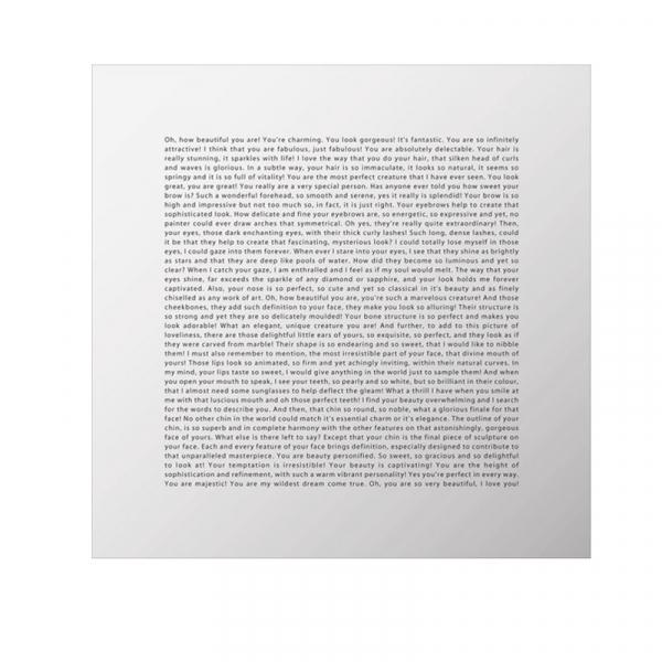 Spiegel  45x45cm Engels
