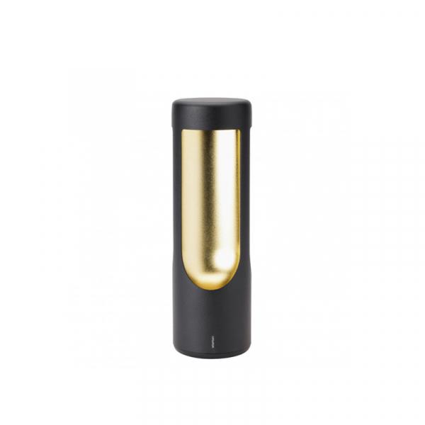 Ledlamp zwart/messing 26 cm