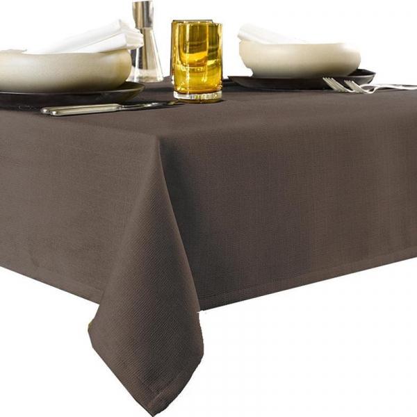 Tafelkleed 145 x 260 cm polyeste bruin