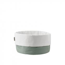 Broodmand dusty green / wit
