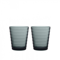Glas 22 cl donkergrijs 2 stuks