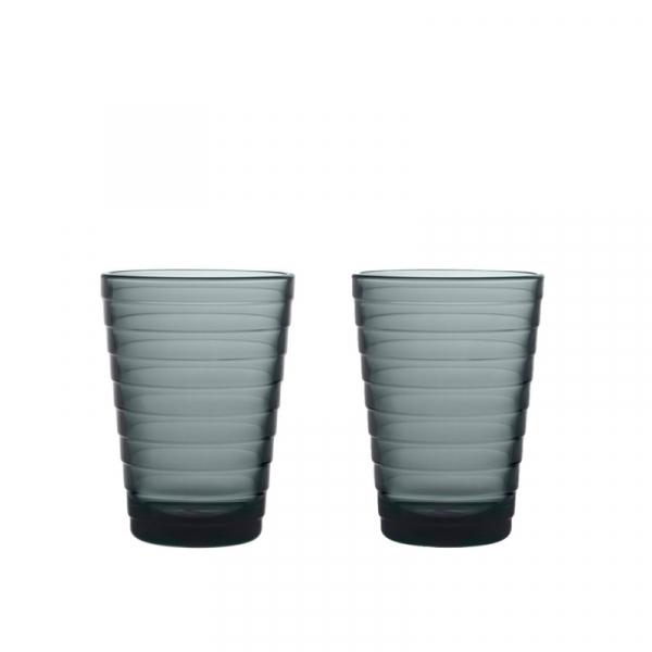 Glas 33 cl donkergrijs 2 stuks