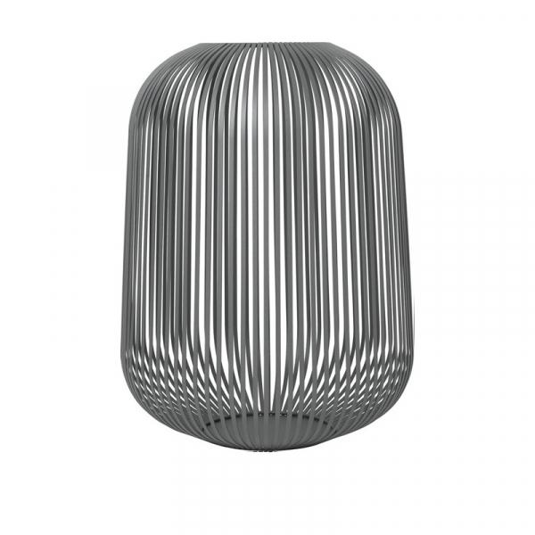Lantaarn large steel grey 45 cm