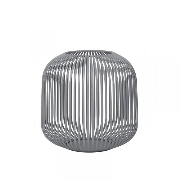 Lantaarn medium steel grey 27 cm