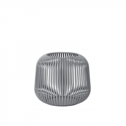 Lantaarn small steel grey 17 cm