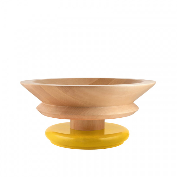 Centrepiece schaal geel